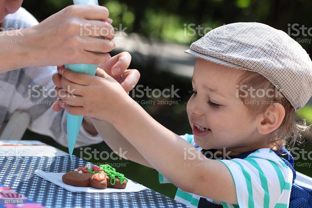 Pain d'épices de coloriage pour enfant - Photo