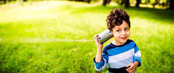 Child communication concept stock photo