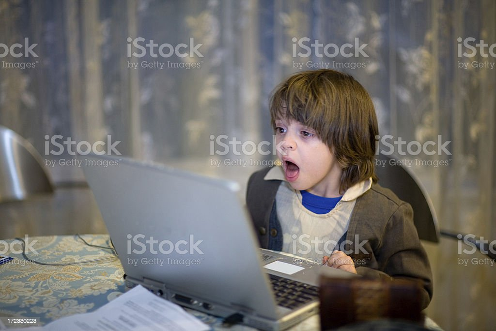Child Computer Entertainment royalty-free stock photo
