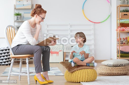 istock Child counselor during psychotherapy session 868923310