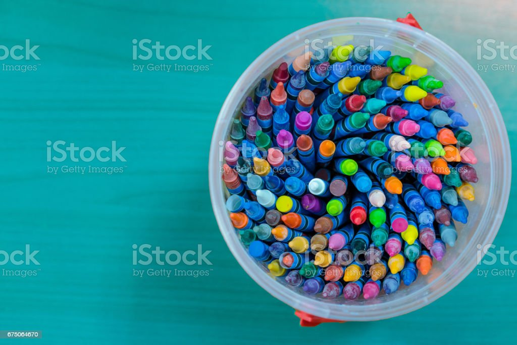 child crayon stock photo