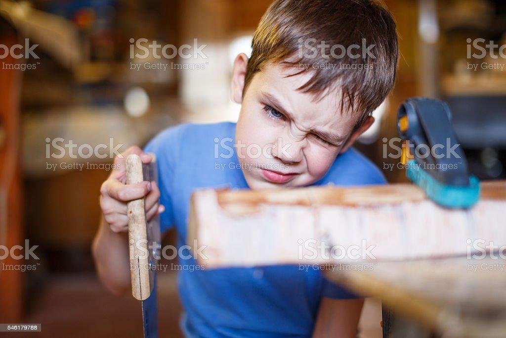 child does handicraft stock photo