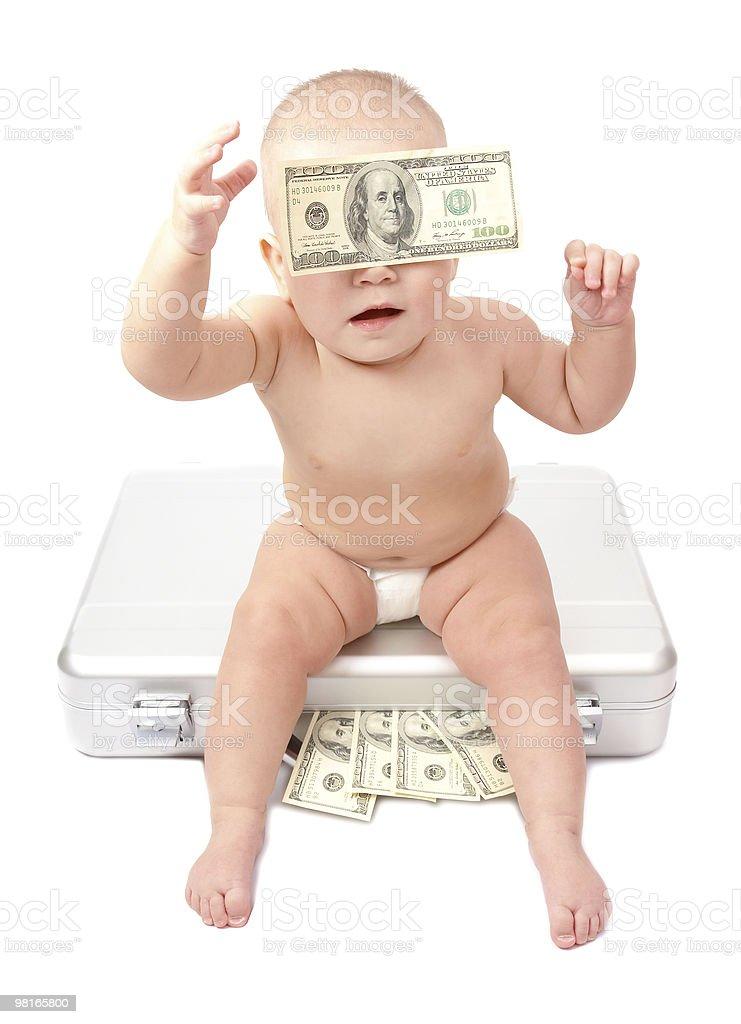 child & dollars royalty-free stock photo
