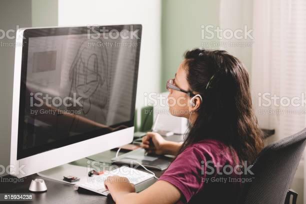 Child drawing on the computer picture id815934238?b=1&k=6&m=815934238&s=612x612&h=2ol0bwyjrkqmbure5cjoaqs 0qs7bs7yjpkrdqyoglm=