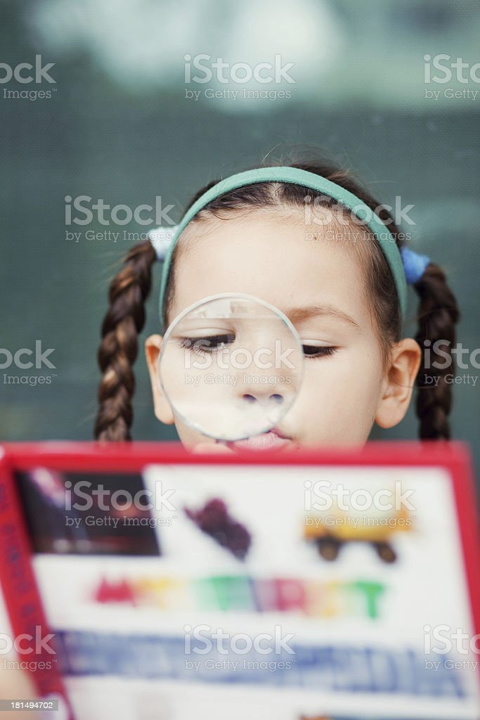 Child draws a picture royalty-free stock photo