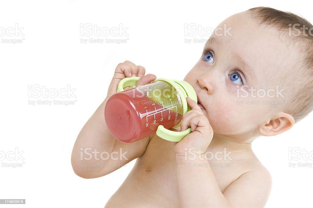 Child drinking royalty-free stock photo