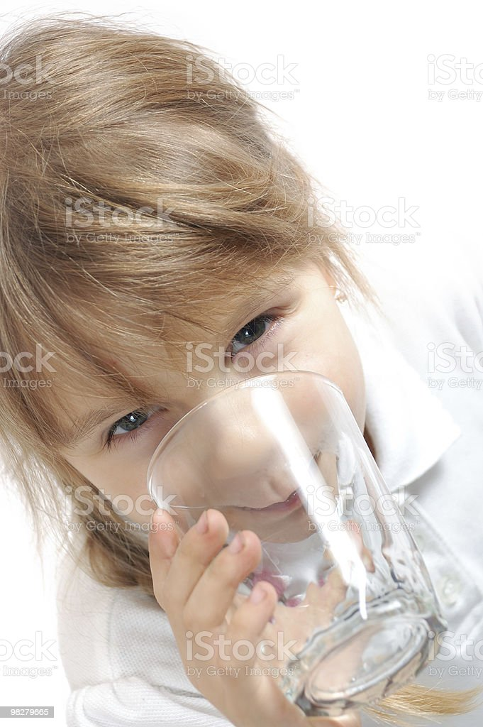 child drinking water royalty-free stock photo