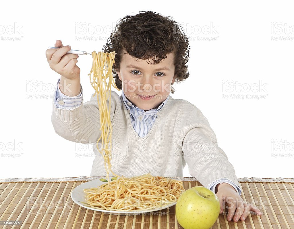 child eating royalty-free stock photo