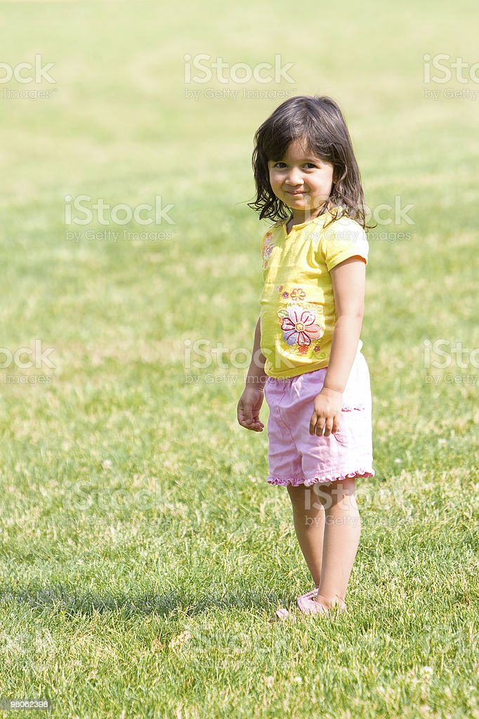 Child Enjoying the Sun royalty-free stock photo