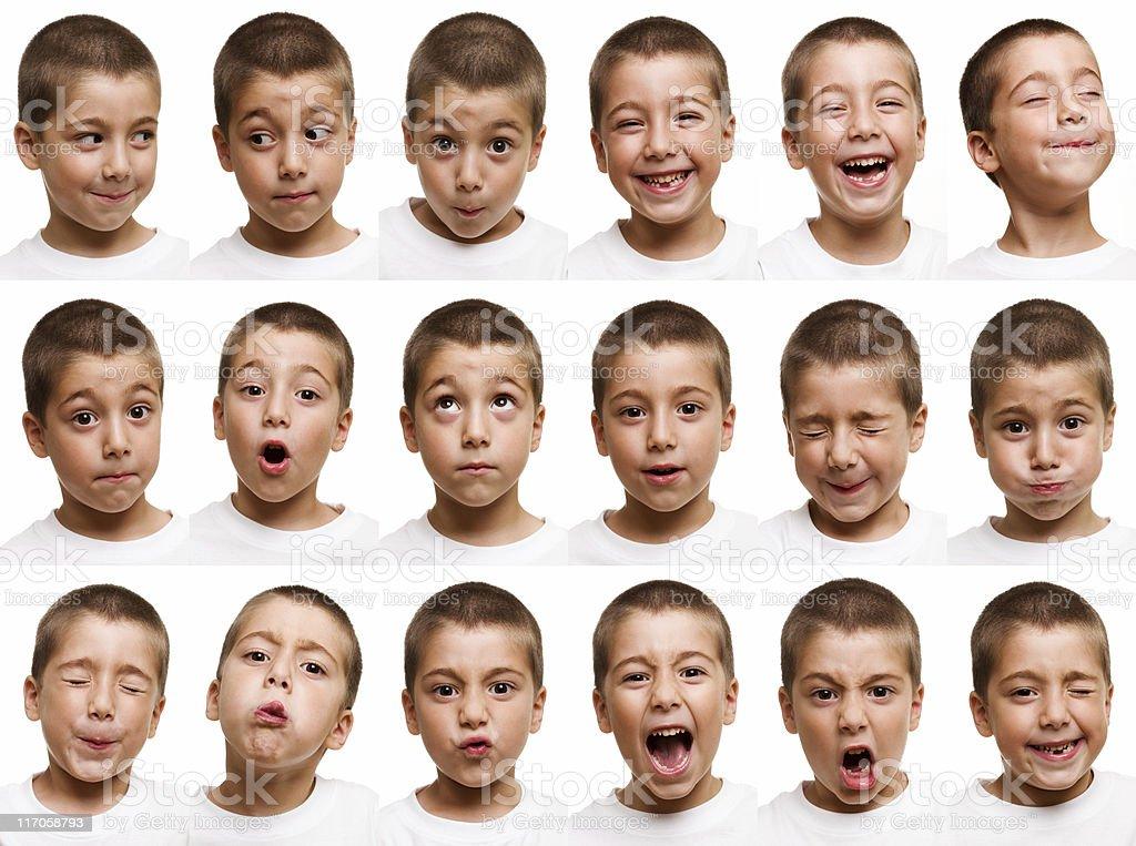 Child faces stock photo