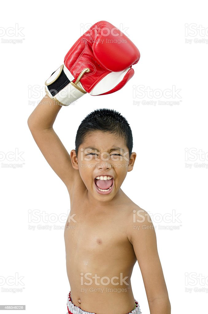 child fighter royalty-free stock photo