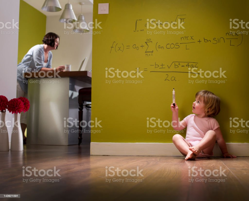 child genius stock photo