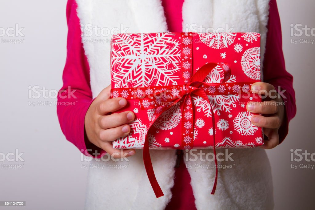 child gift box hands royalty-free stock photo