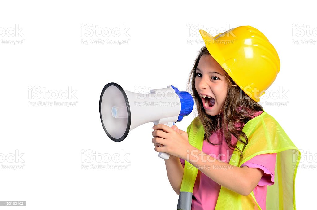 child girl screaming stock photo