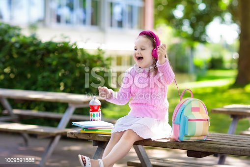 istock Child going back to school, year start 1009591588