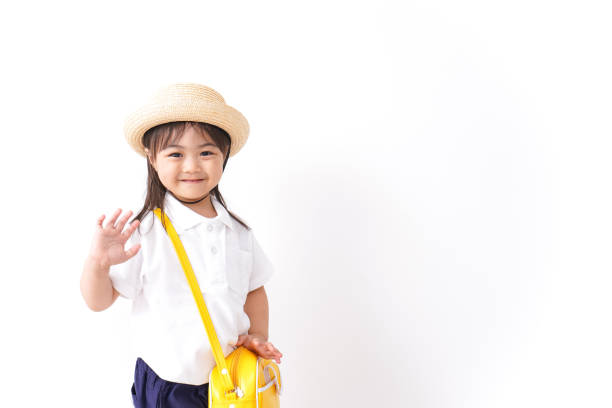 幼稚園に通う子供 ストックフォト