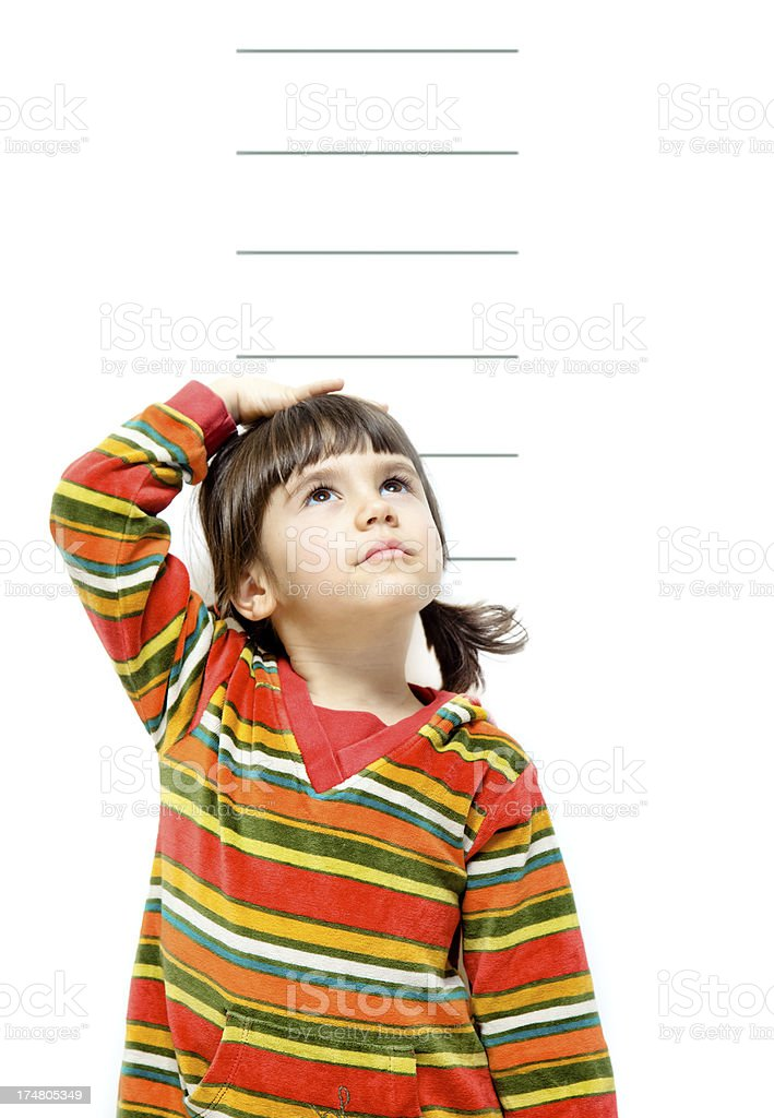 Child growing. royalty-free stock photo
