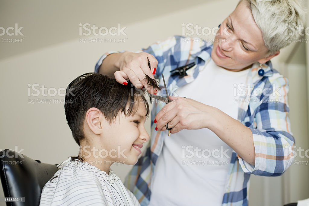Child haircut royalty-free stock photo