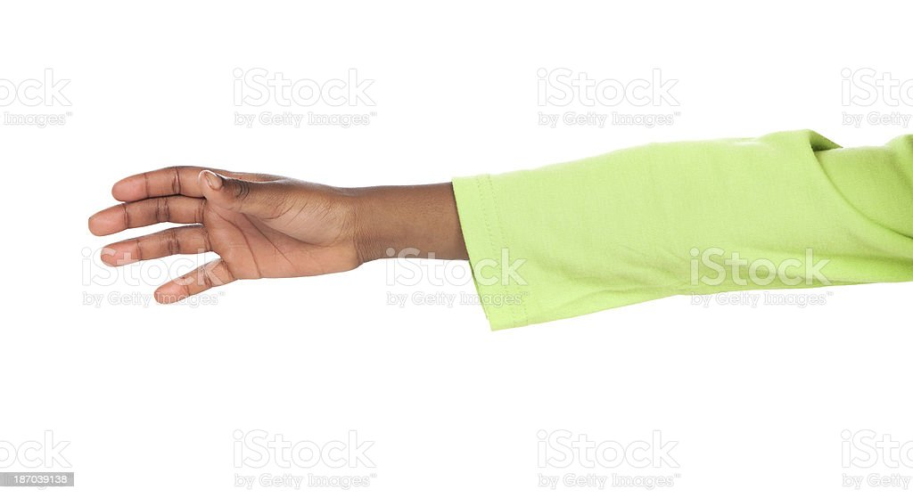 Child hand reaching stock photo