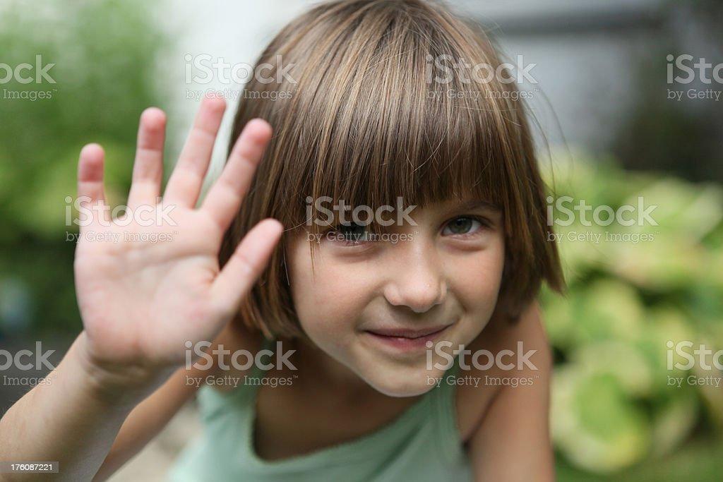 Child, hand up royalty-free stock photo