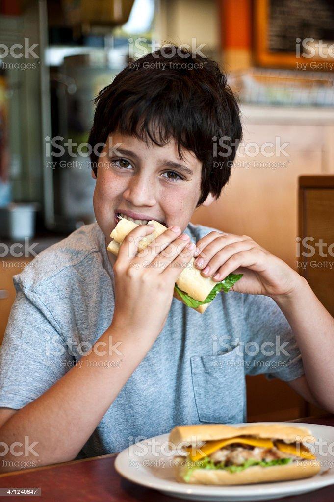 Child Having a Sandwich royalty-free stock photo