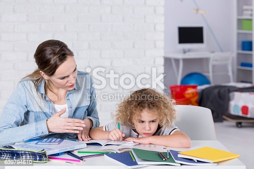istock Child having problem with concentration 639794610