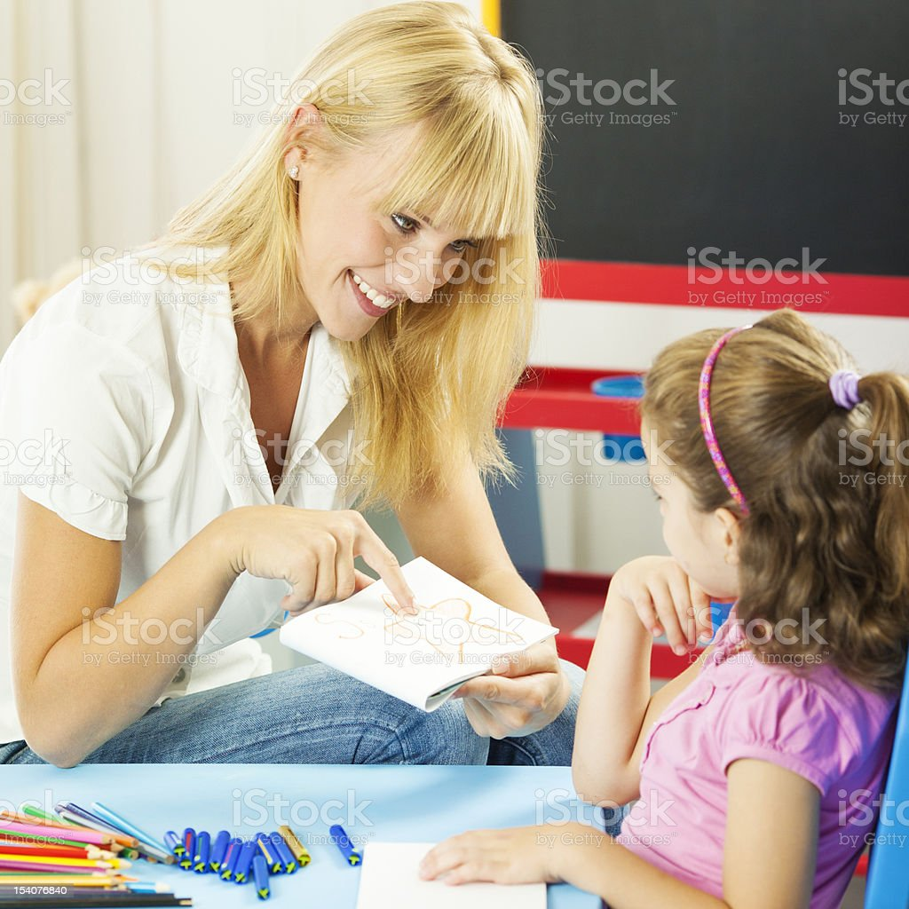 Child Having Speech Therapy royalty-free stock photo