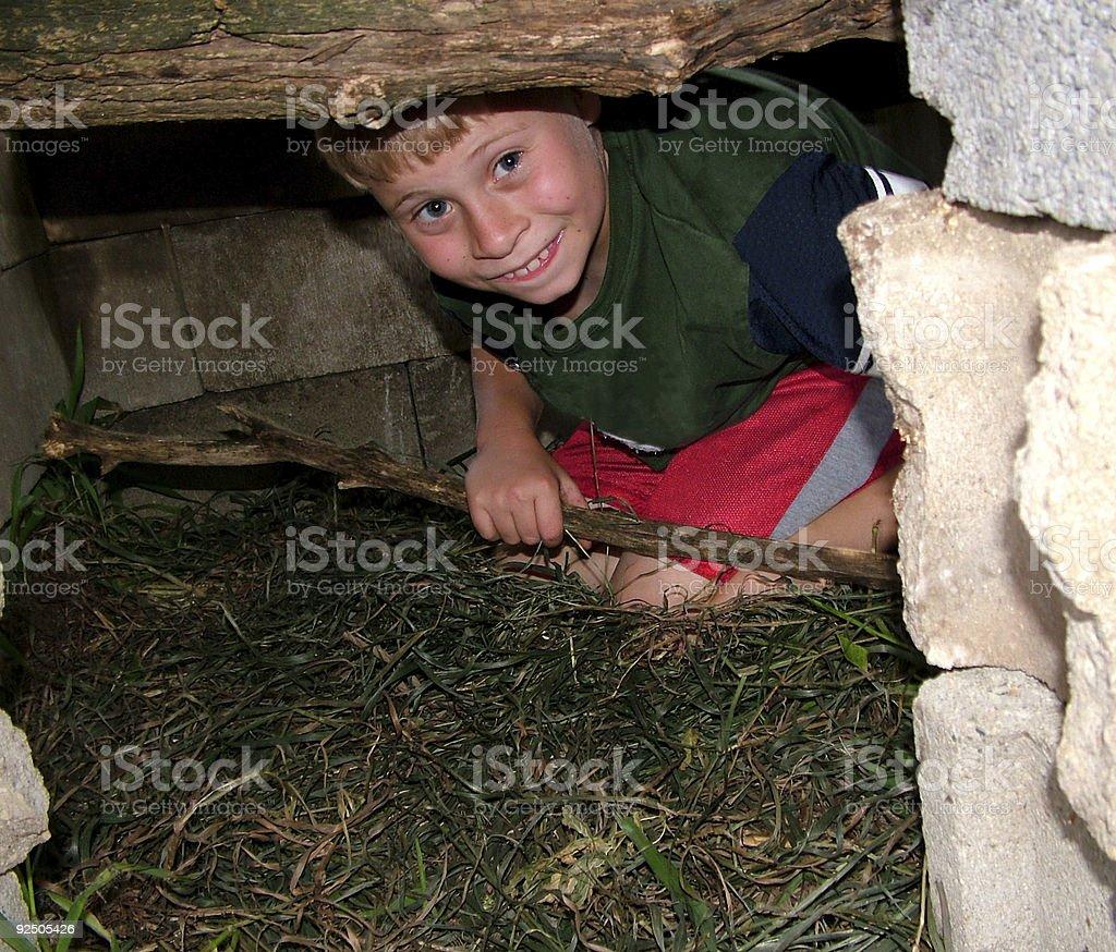 Child Hiding royalty-free stock photo