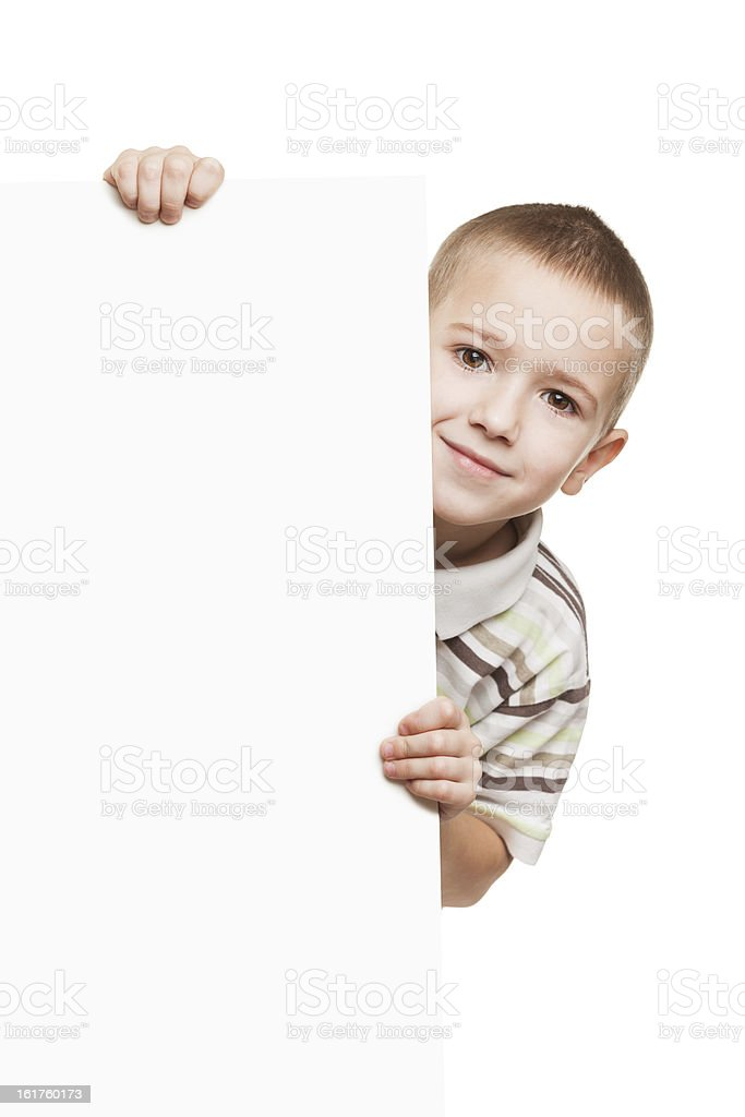 Kind holding leere Plakat – Foto