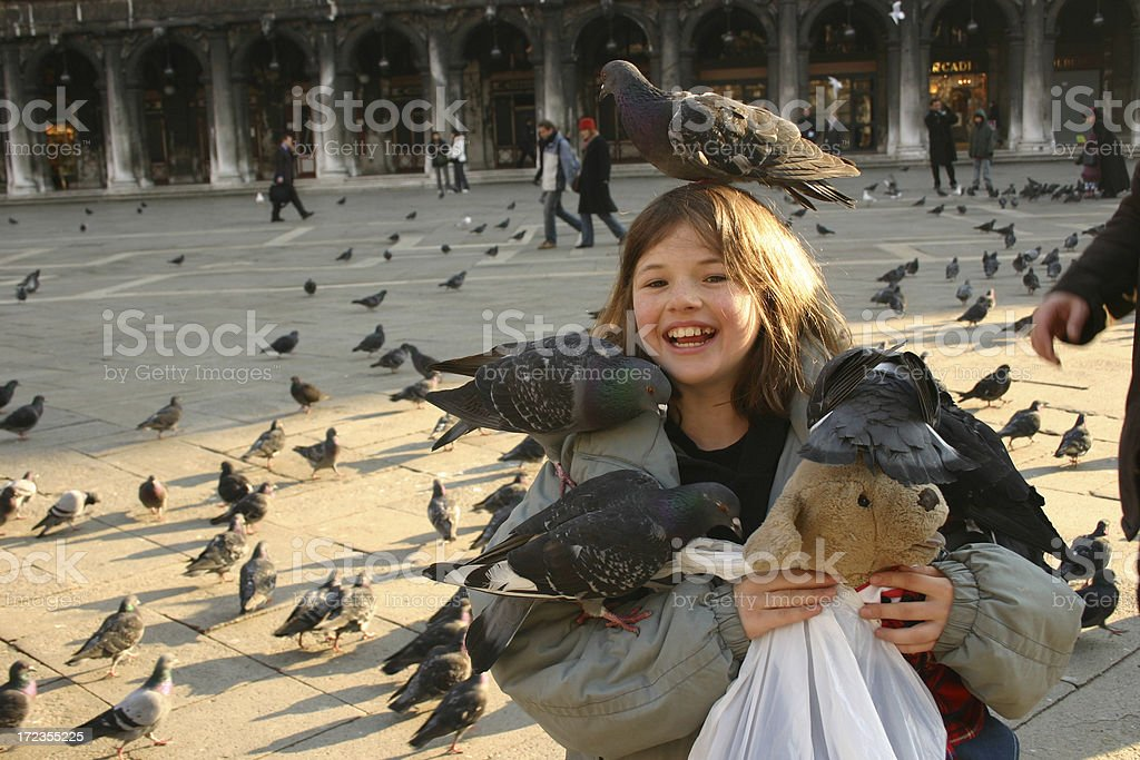 Child holidaying in Venice Europe vacation royalty-free stock photo