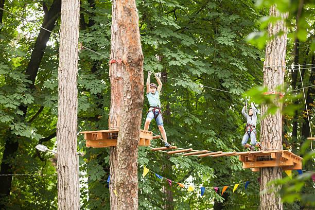 Child in a adventure playground – Foto