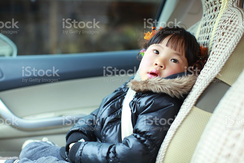 Child in a carseat royalty-free stock photo