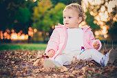 Child in autumn colors