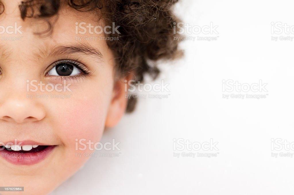 Child in bubble bath ( serie ) stock photo