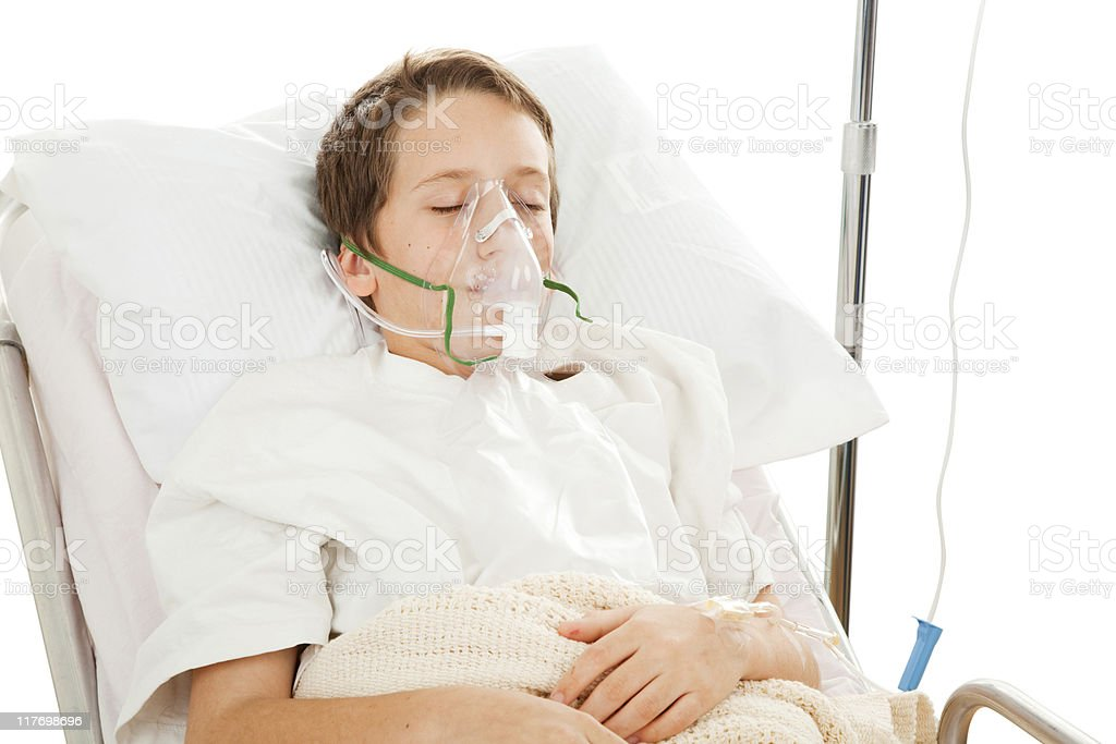 Child in Hospital stock photo