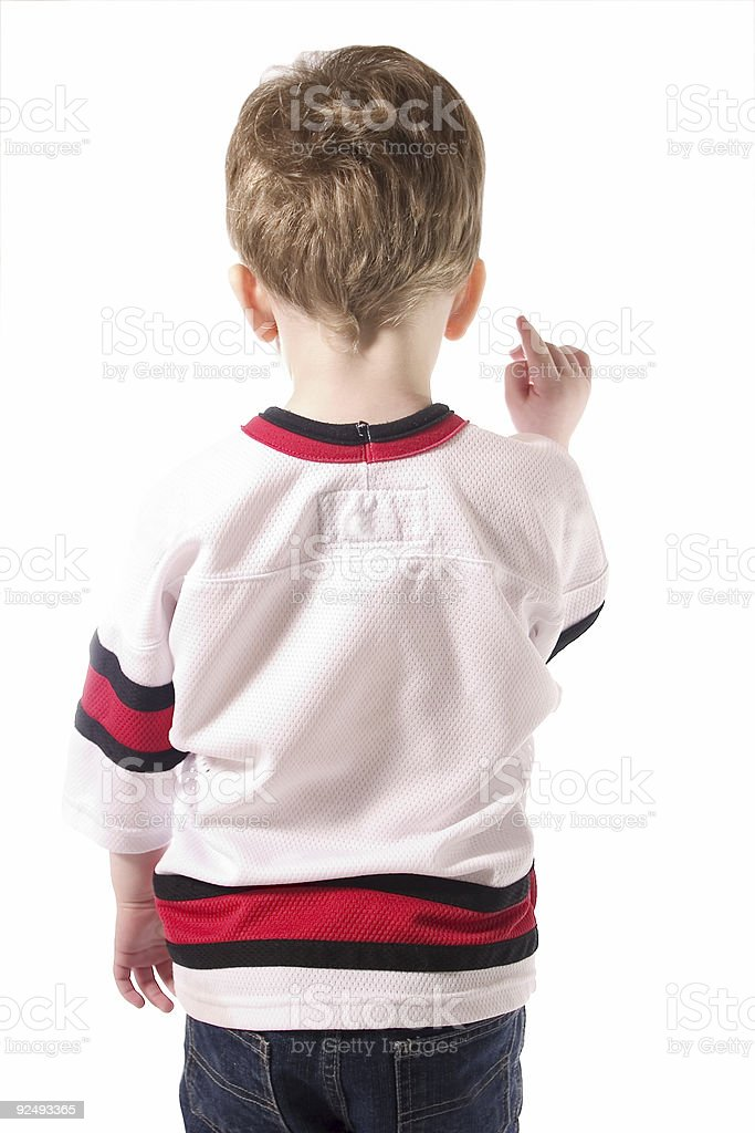 Child in Jersey 2 royalty-free stock photo