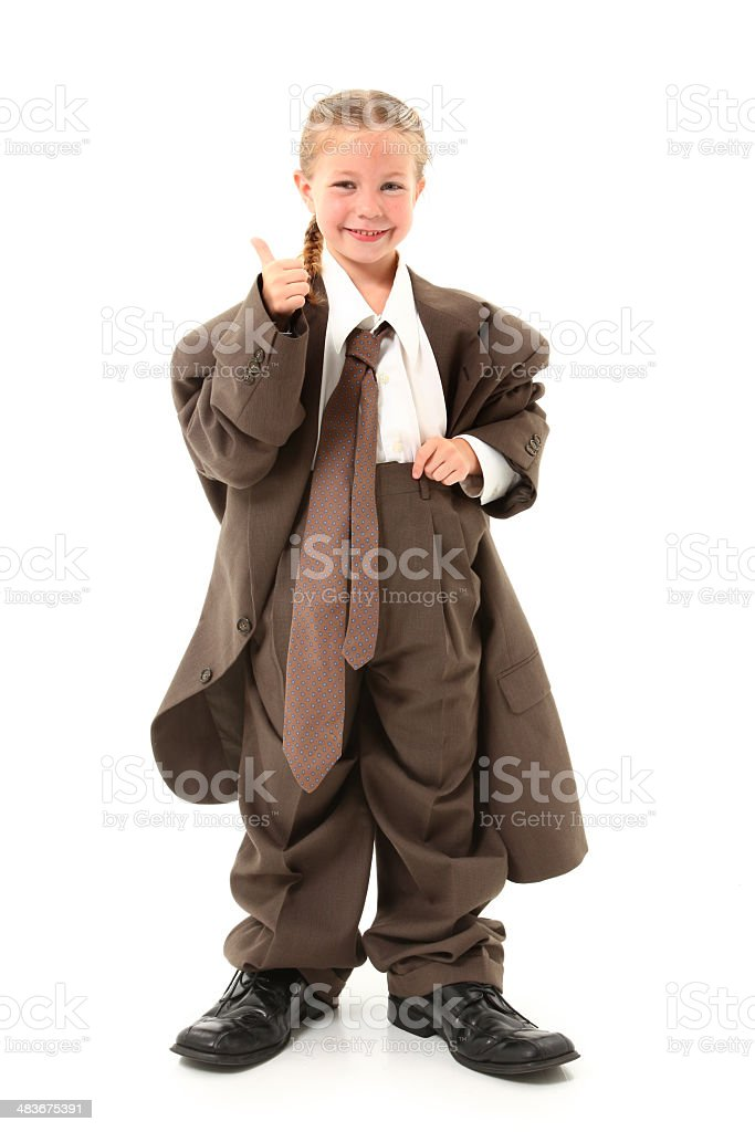 Child in Oversized Suit royalty-free stock photo