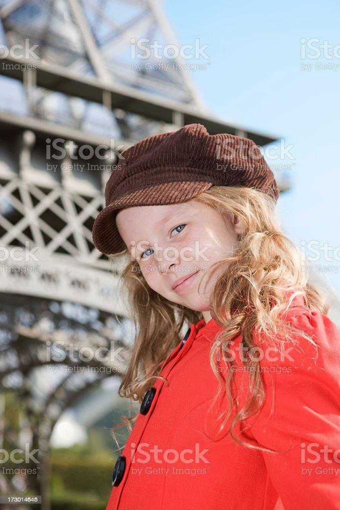 Child in Paris royalty-free stock photo