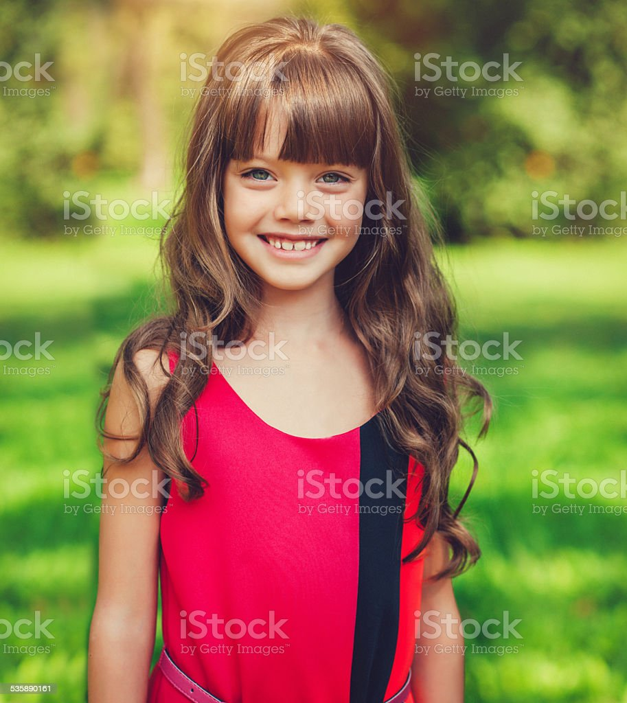 Child in park stock photo
