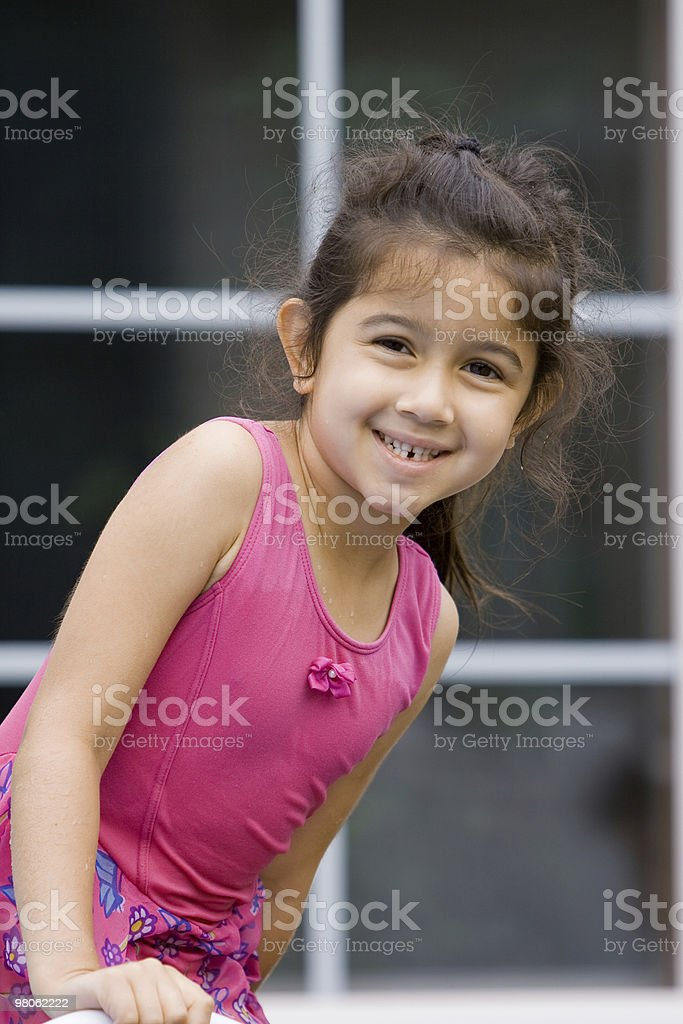 Child in Pink Bathing Suit royalty-free stock photo