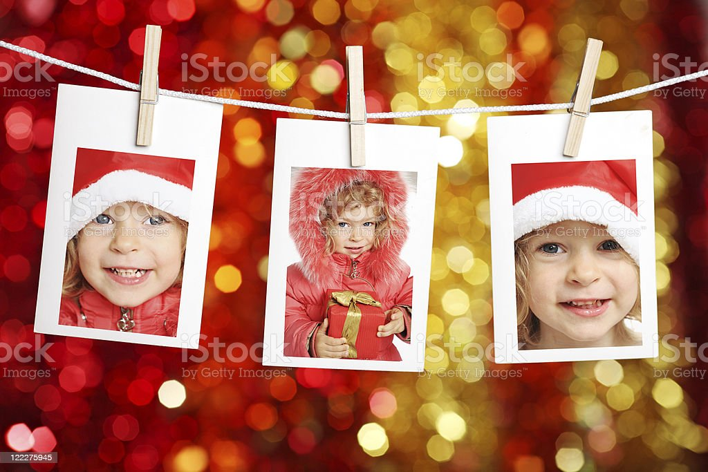 Child in Santa hat royalty-free stock photo