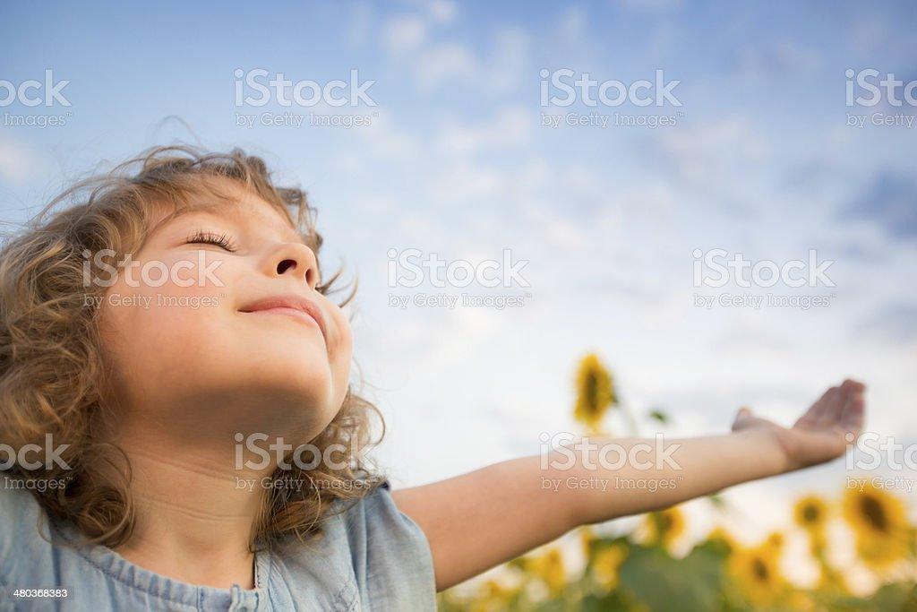 Child in spring royalty-free stock photo