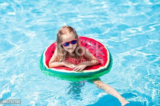 1080429798istockphoto Child in swimming pool. Kids swim. Water play. 951742102