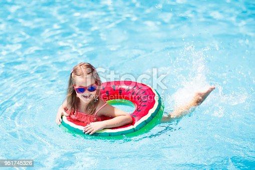 1080429798istockphoto Child in swimming pool. Kids swim. Water play. 951745326