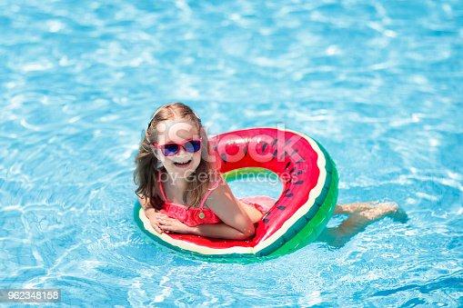 1080429798istockphoto Child in swimming pool. Kids swim. Water play. 962348158