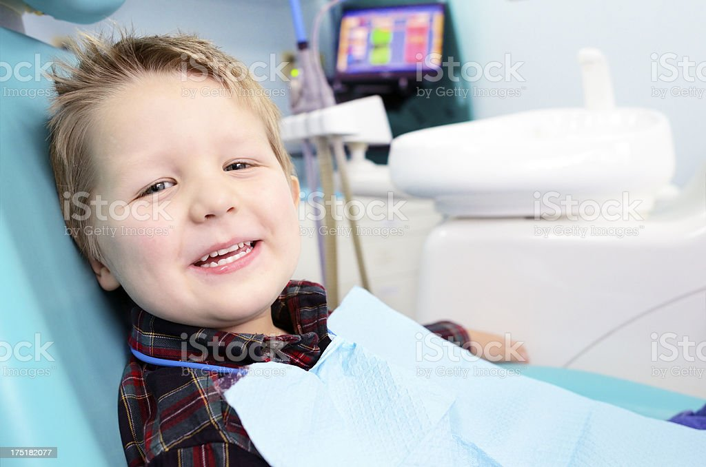 Child in the dental office royalty-free stock photo