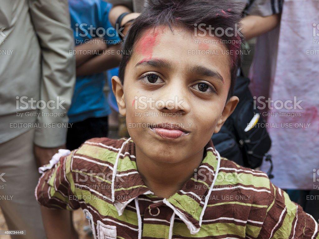 Child in the Dharavi Slum stock photo