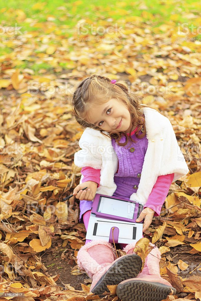 Child in the park royalty-free stock photo