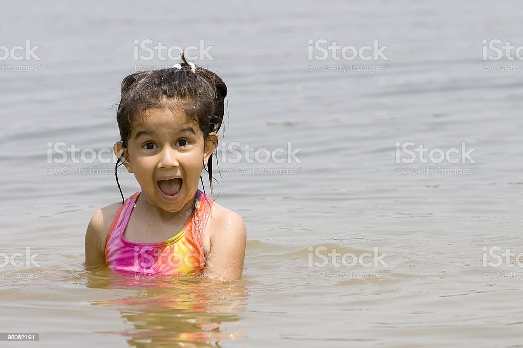 Child in Water royalty-free stock photo