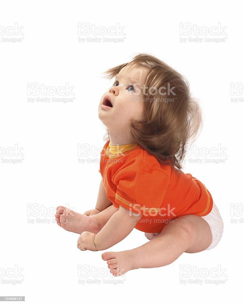 Child is in a sport shirt. royalty-free stock photo